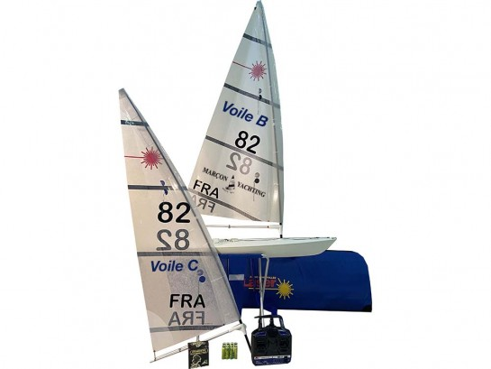 RC laser sailing school